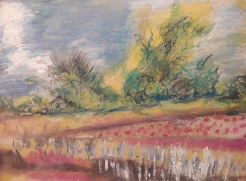 Chiltern landscape in soft pastel colours