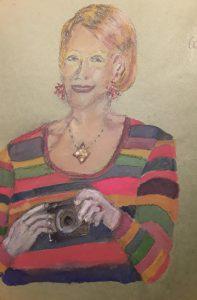 Portrait of a pretty lady in watercolours