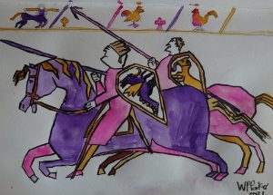 Bayeux Tapestry in watercolour