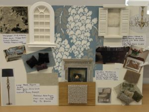 Mood board for interior design
