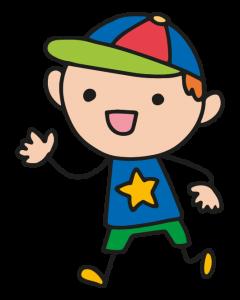 Cartoon of boy in cap