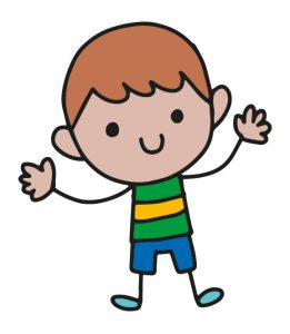 Cartoon drawing of boy