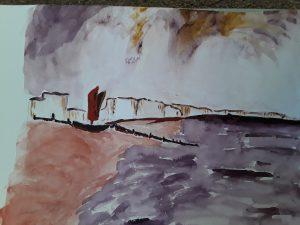 Painting of Brighton Beach