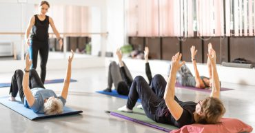 Learners in a Pilates class