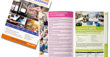 Buckinghamshire Adult Learning 21/22 part-time course brochure mock-up