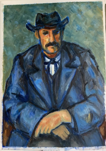 Copy of Portrait of a Peasant painting by Cezanne