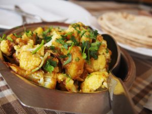 Bowl of Aloo Gobi - indian cauliflower dish