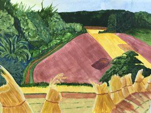 Painting of cornfields