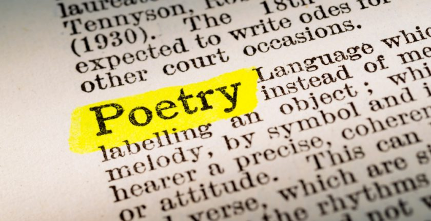 The word Poetry listed in a dictionary