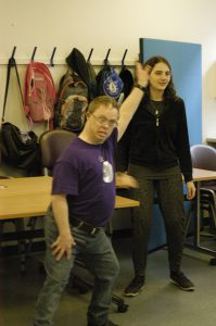 Man and woman in ALDD movers and shakers class