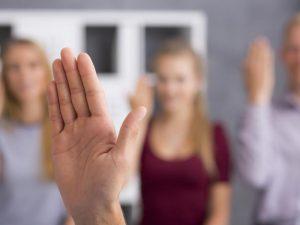 Hand doing sign language