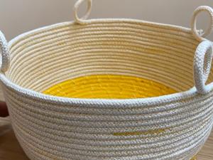 Handmade rope basket