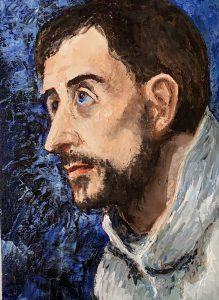 Copy of painting Ecstasy of St Francis of Assisi by El Greco