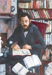 Copy of a portrait of Gustav Geffroy by Cézanne.
