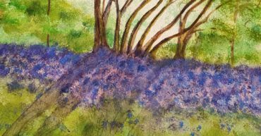 Bluebells painting