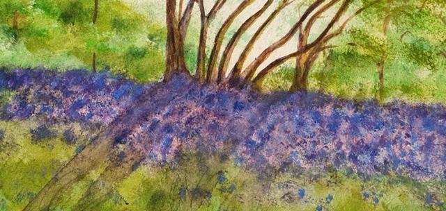 Bluebells painting