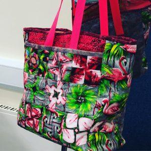 Flamingo design bag