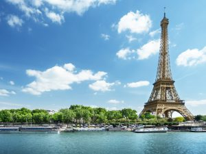 The Eiffel Tower and the Seine river in Paris