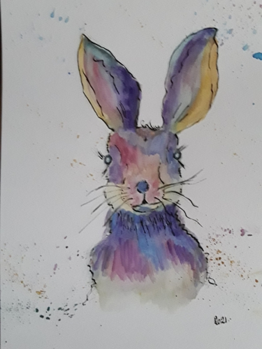 Painting of a hare