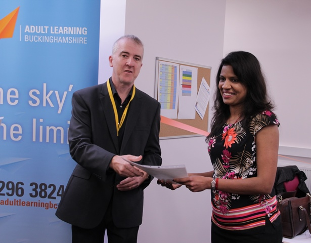 Learner accepting a certificate