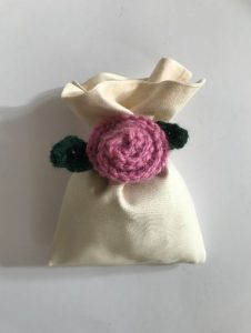 crochet rose bag
