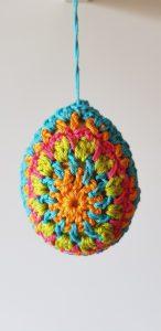Crochet easter egg decoration