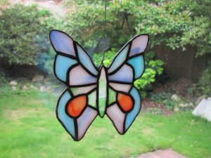 Butterfly stained glass design