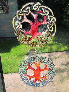 Stained glass celtic knot design