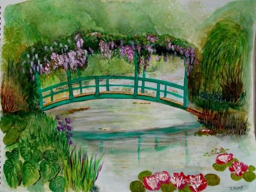 Copy of Monet's water garden painting