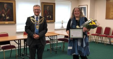 Marie Biswell and the Mayor of Aylesbury
