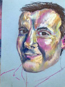 Portrait of a man in pastels