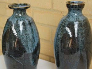 Two glazed vases