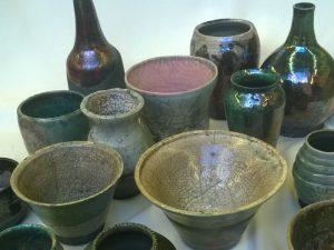 Raku pots and vases