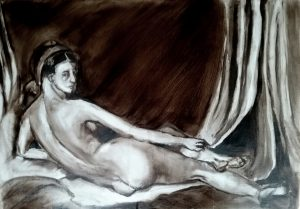 Painting of nude woman