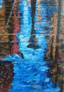 Painting of a reflection