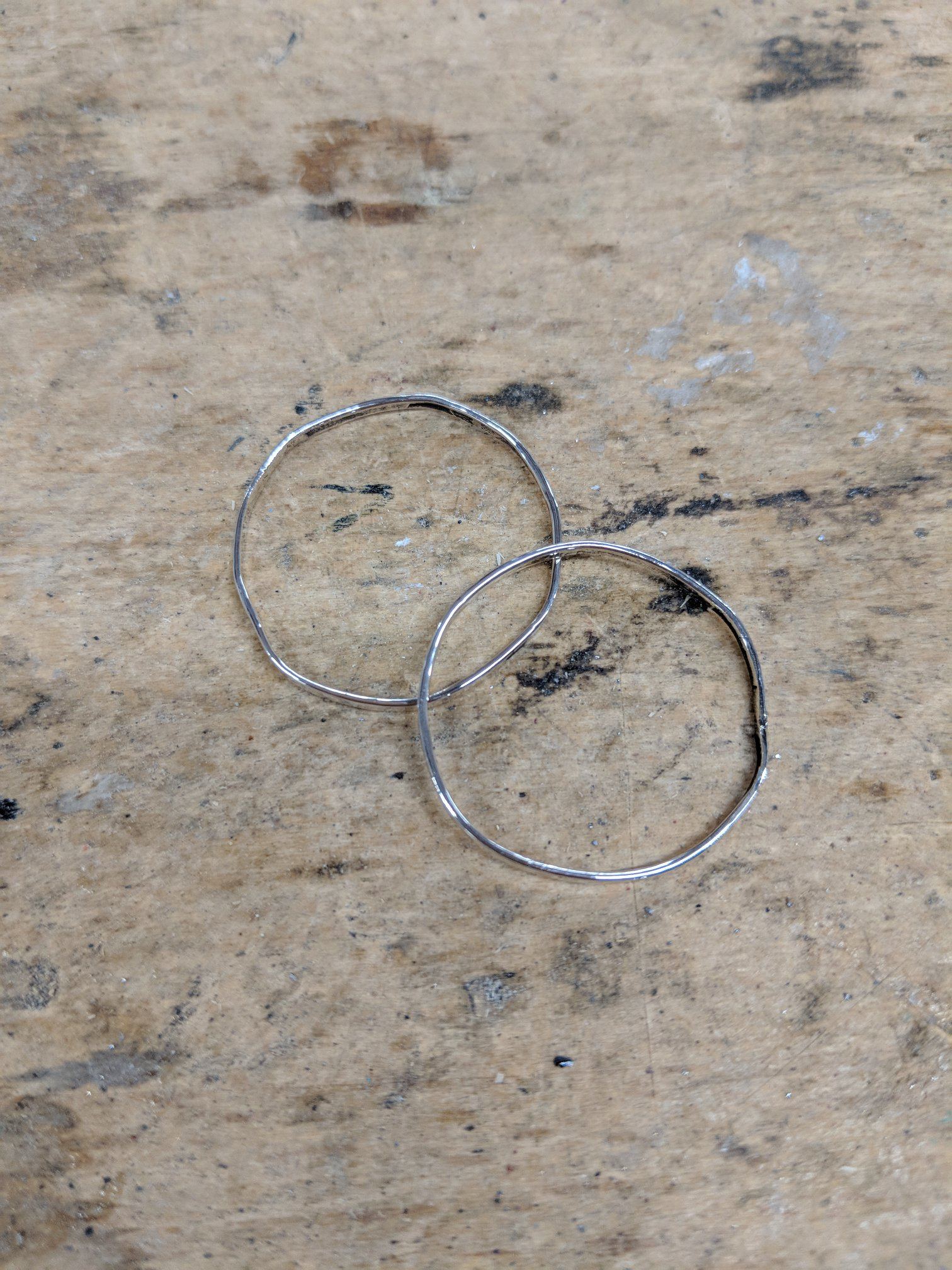 Silver hoop earrings
