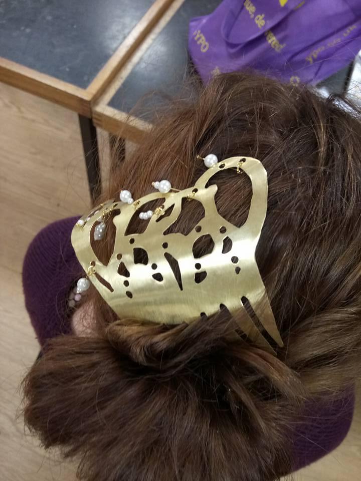 Brass hairclip