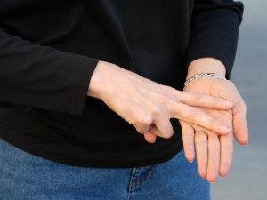 Hand with sign language