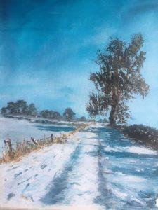 Landscape scene in the snow