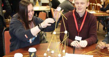 Apprentices Spaghetti Tower