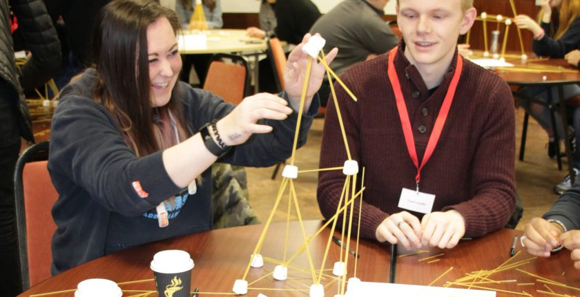 Apprentices Spaghetti Tower