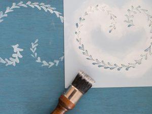 decorative painting with paintbrush