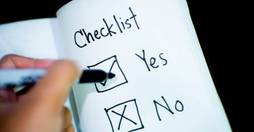 Checklist Yes or No boxes