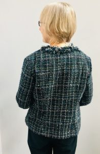 Back of handmade Chanel style jacket