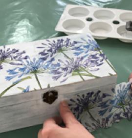 Decoupage on trinket box