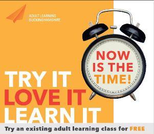 Try It, Love It, Learn It logo with orange clock