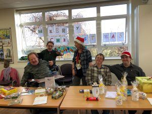 Group of 5 learners at Christmas Fair