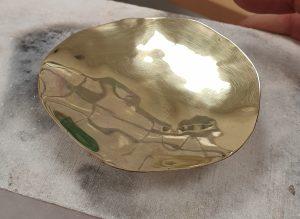 polished gold ring