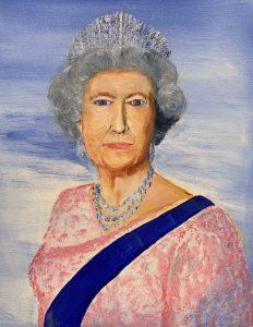 Painting of Queen Elizabeth II