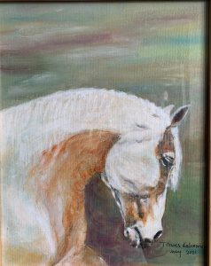 Painting of white horse